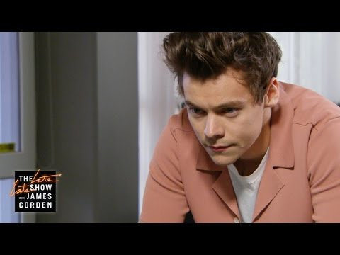Thumbnail: Harry Styles Can't Get Into The Late Late Show