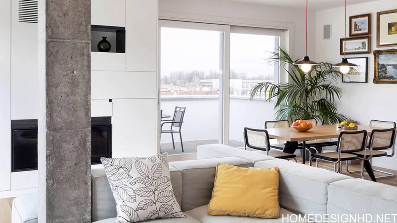 Modern And Inspiring Interior Displaying Concrete Pillars [HD ...