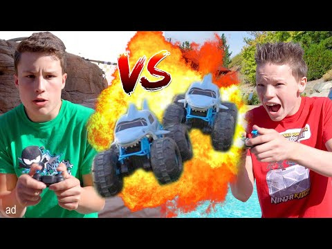 MEGALODON Storm Monster Truck RACE!