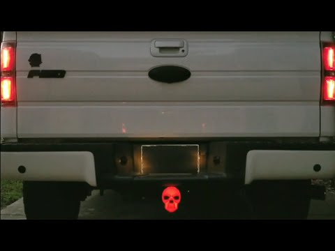 Skull Lighted Hitch Cover Youtube
