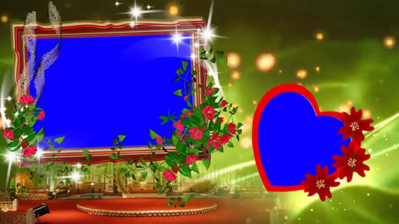 hd beautiful animated wedding frame background video youtube - Moving Picture Frames
