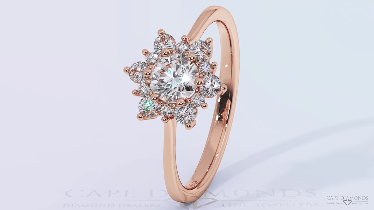 Best Diamond Engagement Rings South Africa Snowflake Halo Diamond