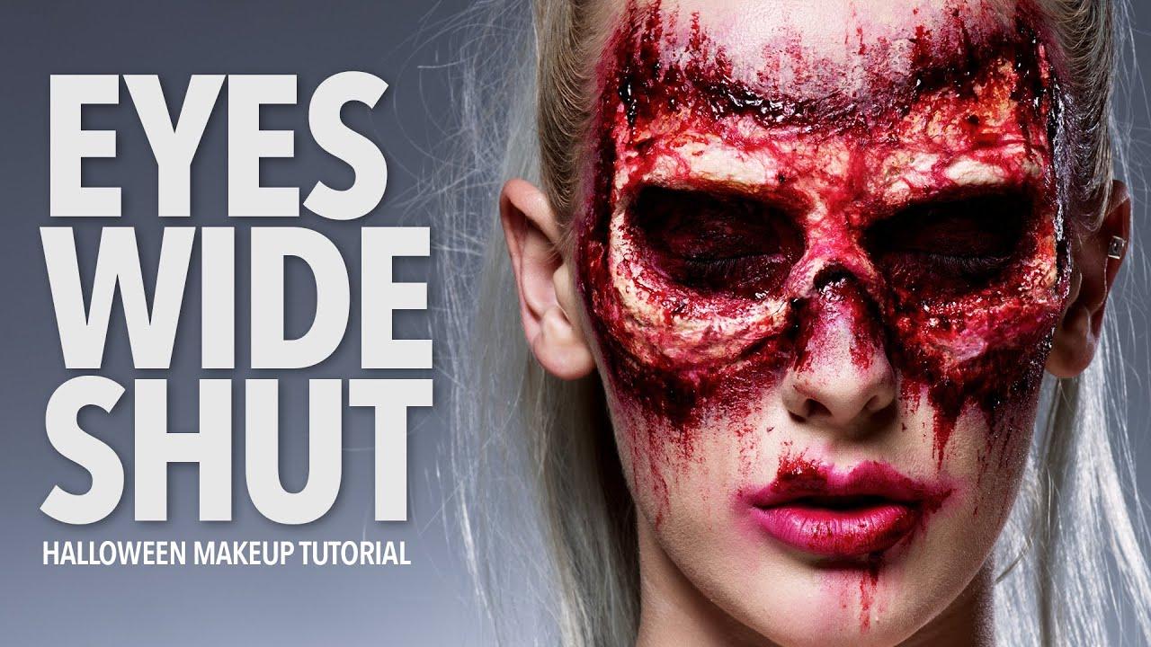 Eyes Wide Shut Halloween Makeup Tutorial - YouTube