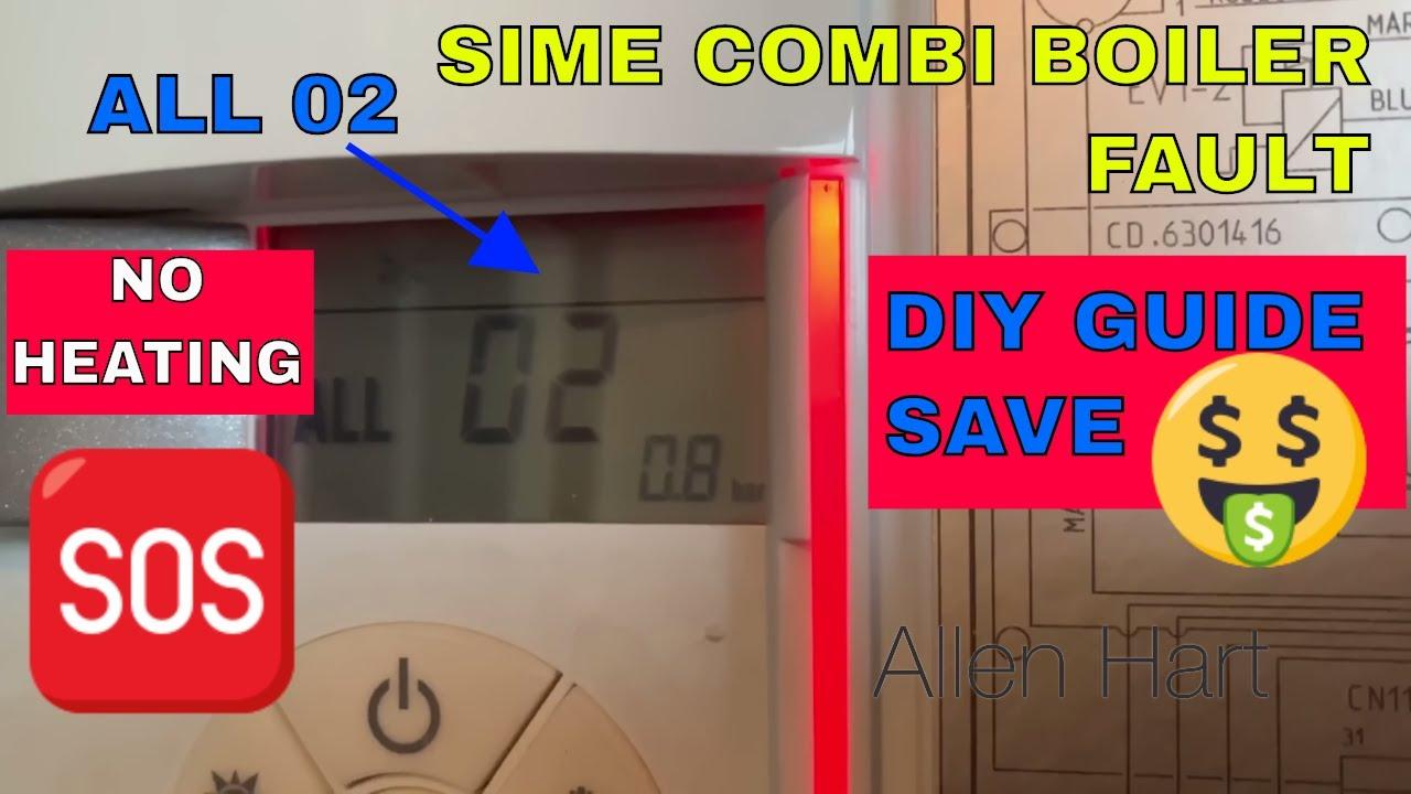 How to repair your Sime Combi Boiler Top up the Pressure / Repressurise ALL  02