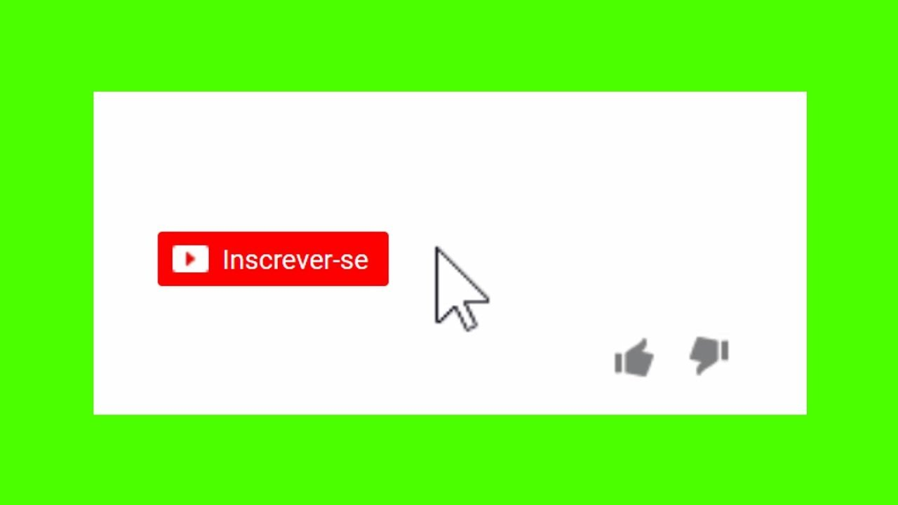Chroma Key Like Inscreva Se Modelo 1 Youtube