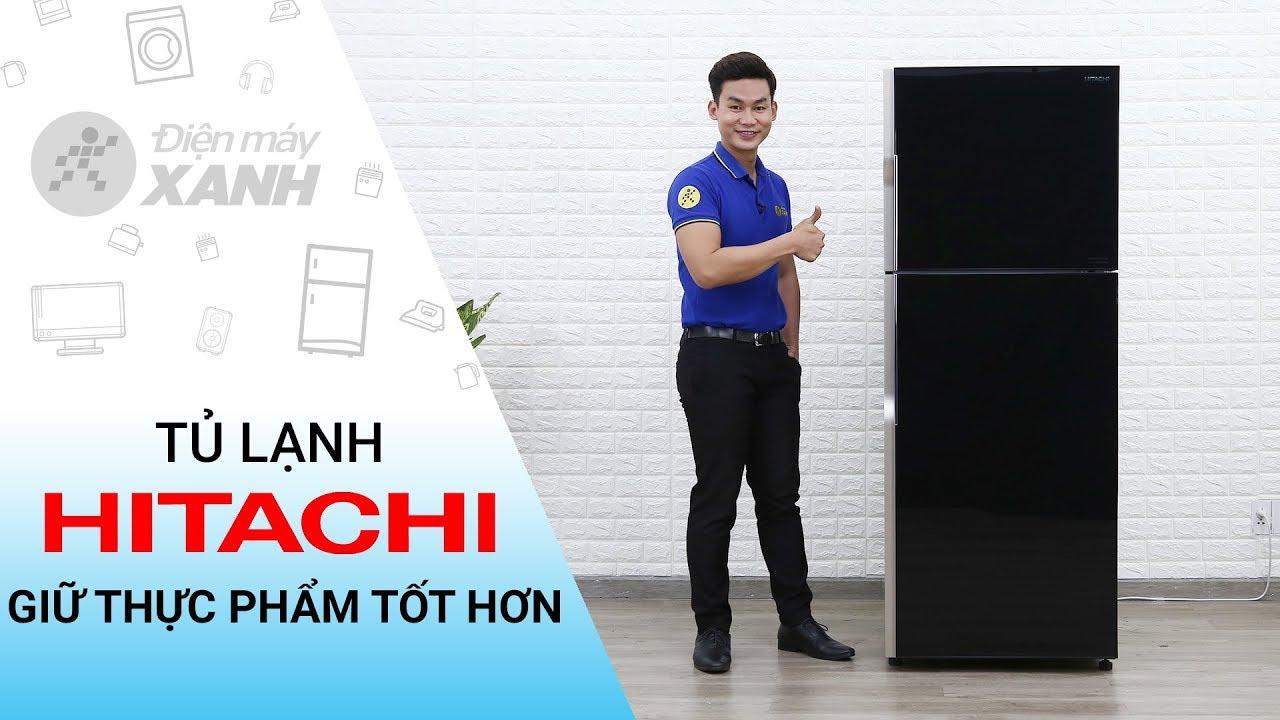 Tủ lạnh Hitachi Inverter 365 lít: quạt kép, làm lạnh thông minh (R-VG440PGV3) | Điện Máy XANH