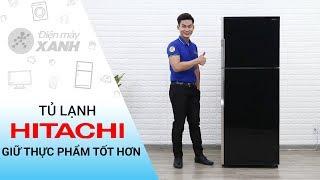 Tủ lạnh Hitachi Inverter 365 lít: quạt kép, làm lạnh thông minh (R-VG440PGV3)
