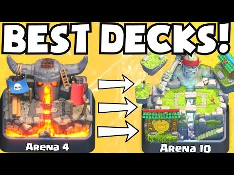 Clash Royale BEST ARENA 4 - ARENA 10 DECKS UNDEFEATED   BEST ATTACK STRATEGY TIPS F2P PLAYERS