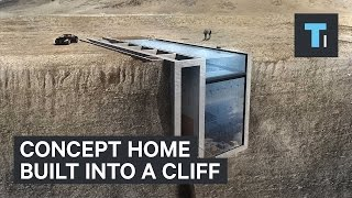 Concept home built into a clifff