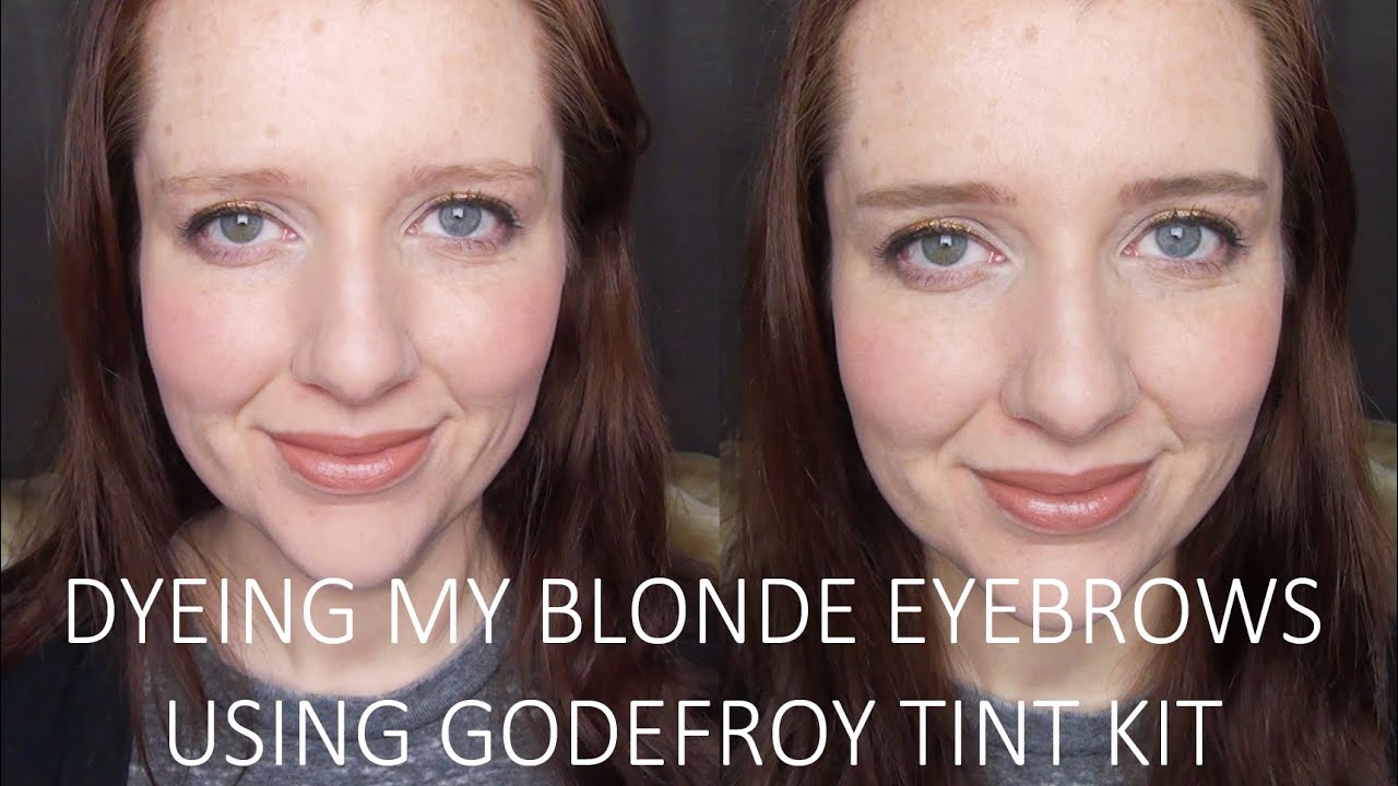 Dyeing My Blonde Eyebrows Demo Using Godefroy Tint Kit Youtube