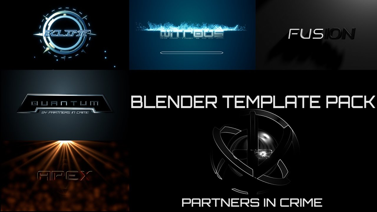 blender intro template pack by partners in crime youtube. Black Bedroom Furniture Sets. Home Design Ideas