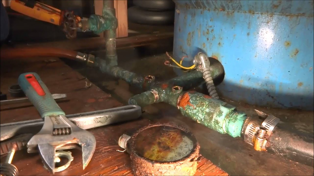 Residental Well Tank Blowing Relief Valve Youtube