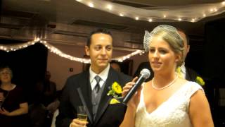 Bride and Groom Thank You Toast: Jeremy and Rebekah Wedding.  Dandelion Videography.