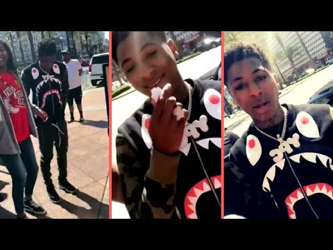 NBA YoungBoy Gets Swarmed By A Group Of Females When He Hops Out The Car They Go Crazy Over YoungBoy