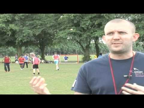 Football tournament on Northampton's Racecourse