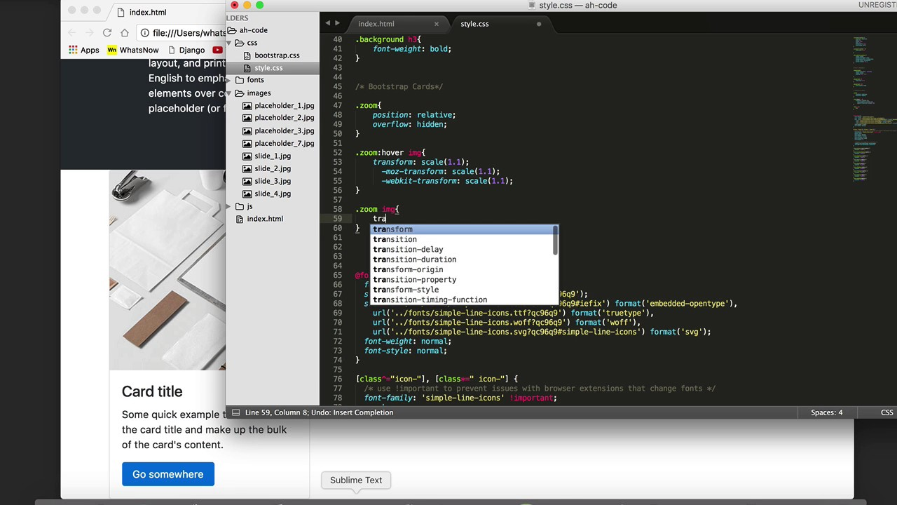 Hover Zoom Image Bootstrap | secondtofirst com