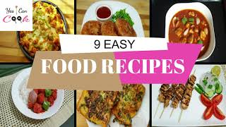 9 EASY RECIPES TO MAKE AT HOME by (YES I CAN COOK) #Cooking #HowToMake