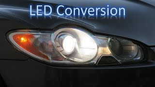 Jaguar XF LED headlight conversion