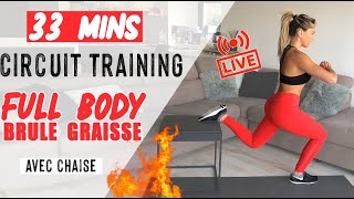 LIVE 1 : CIRCUIT-TRAINING FULL BODY AT HOME (échauffement +séance) 🔥💪🏼