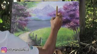 Painting Acrylic - Belajar Melukis Pemandangan di Kanvas
