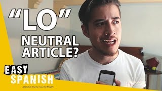 THE NEUTRAL ARTICLE IN SPANISH | Super Easy Spanish 20
