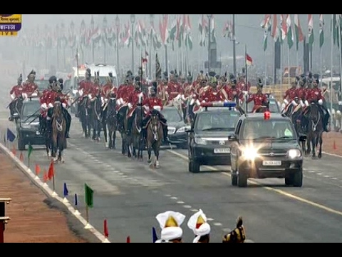 68th Republic Day: President Pranab Mukherjee arrives at Rajpath