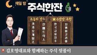 [주식한잔] 카카오게임즈 예스24 한국금융지주 지엠비코…