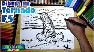 Cómo dibujar un impresionante tornado F5
