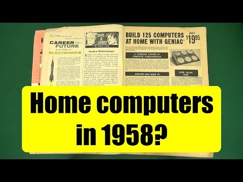 Two home computers from 1958  (from the pages of Popular Electronics)