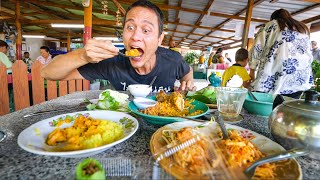 Thai Street Food  YELLOW STICKY RICE!! Best Curry Ever + Stuffed Roti! | Satun, Thailand
