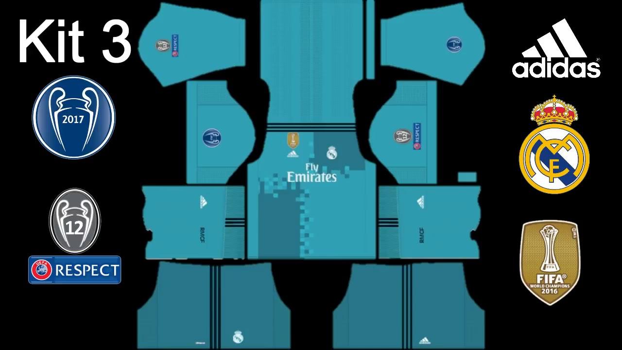 hot sales 288b7 6c6fa Dream League Soccer 2017 Real Madrid Kits 2017 2018 UEFA Champions League