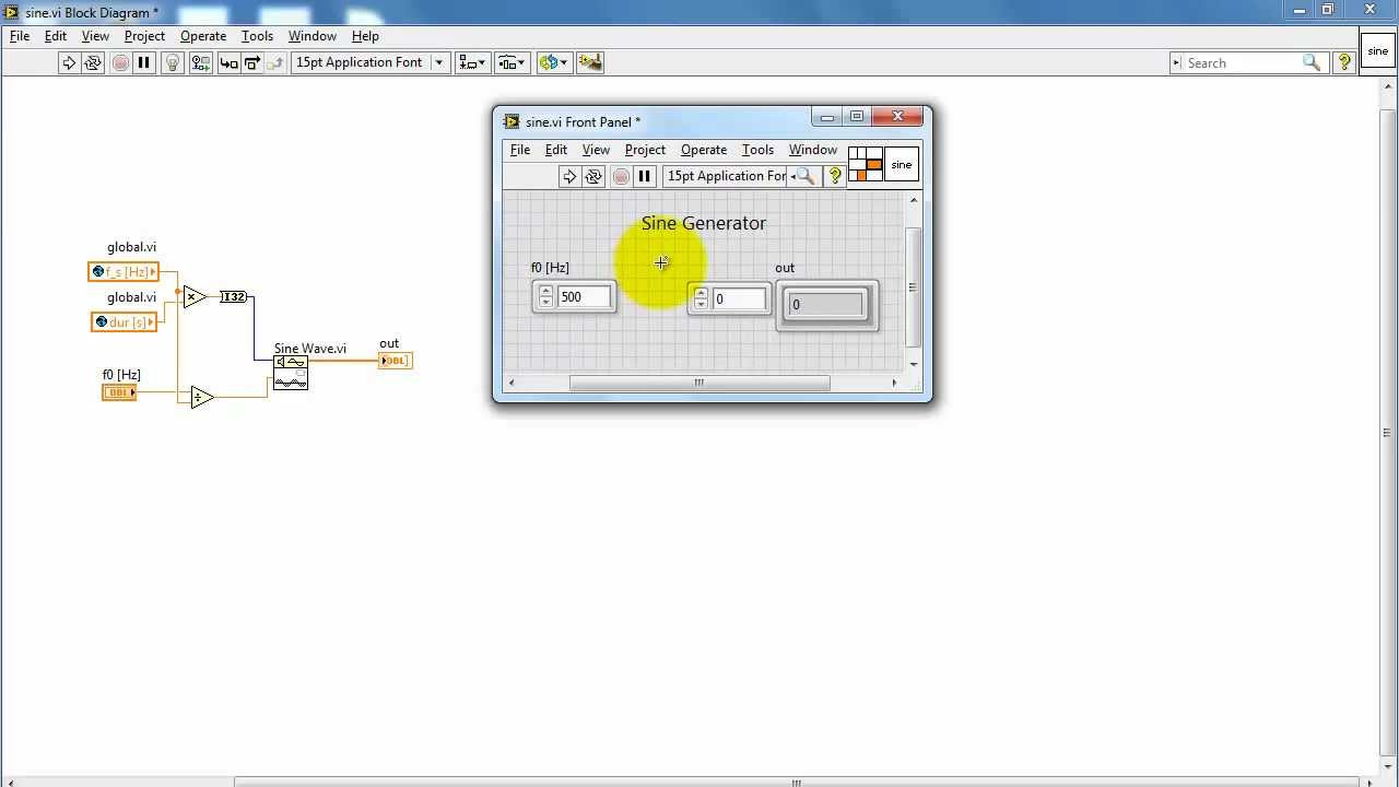 NI LabVIEW Basics Part 1 Creating a VI YouTube LabVIEW in