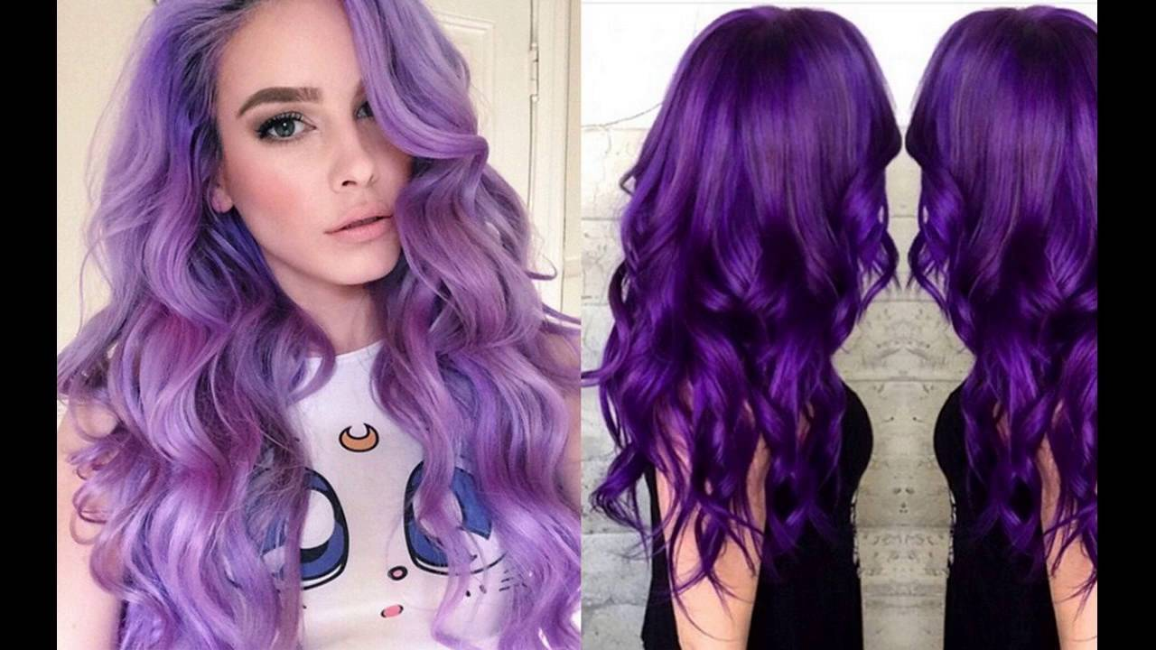 Plum Purple Hair Color Best Brands Available - YouTube
