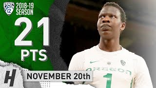 Bol Bol Full Highlights Oregon vs Green Bay 2018.11.20 - 21 Pts, 9 Reb