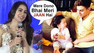 Sara Ali Khan's CUTE Reaction On Brother Ibrahim & Taimur Ali Khan At Kedarnath Movie Promotion