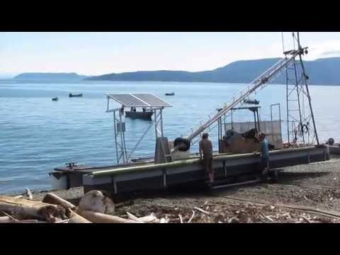 Launching salmon Reef-Netter from Lummi Island (July 13, 2016)