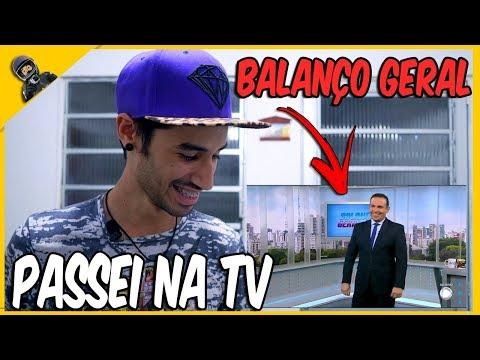 PASSEI NA TV RECORD NO BALANÇO GERAL E VIREI MEME ! 🎥📺