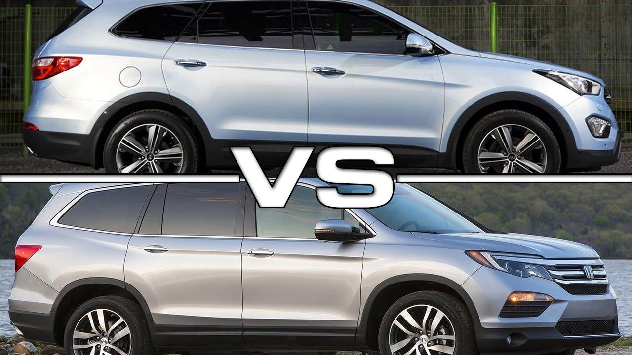 Hyundai Santa Fe Vs Honda Pilot >> 2015 Hyundai Grand Santa Fe Vs 2016 Honda Pilot Youtube