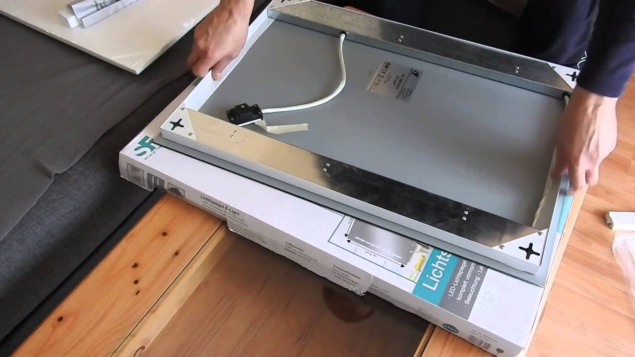 Spiegelschrank Anbringen Unboxing Video Spiegel Mit Led Licht Youtube