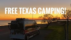 Lake Corpus Christi, Free Texas Camping And Into Galveston!  Full Time Van Life.