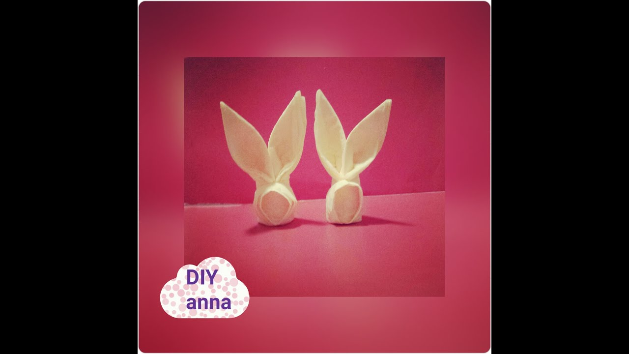 easter bunny how to make a bunny out of a napkin DIY decoration