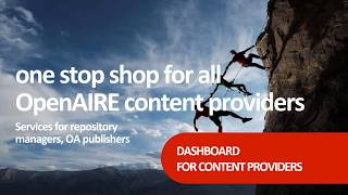 Make your content count - OpenAIRE Content providers Dashboard: service for repository managers thumbnail