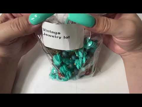 Vintage jewelry unboxing/unbagging from Shop Goodwill | Stunning pieces! | Resell on eBay