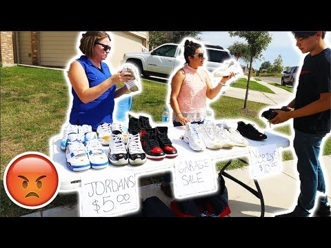 ANGRY WIFE SELLS ENTIRE SNEAKER COLLECTION!! PRANK GONE TOO FAR!!