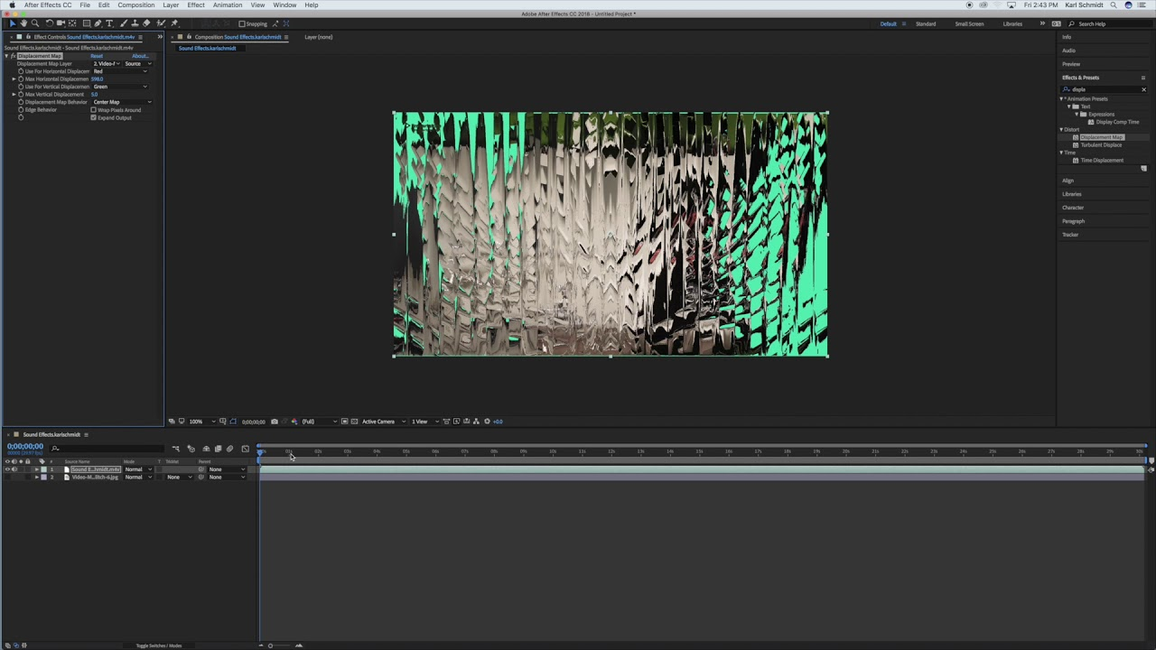 Distortion Map After Effects 2018 - YouTube on
