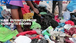 Hair scavenged from Nairobi dumpsite ends up in salon amid COVID-19 pandemic