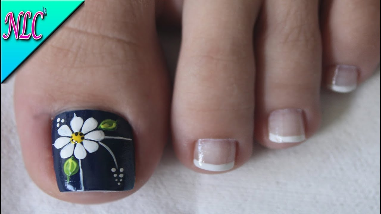 Diseño De Uñas Para Pies Flor Como Hacer Flores Flowers Nail Art Nlc