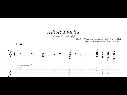 Fingerstyle Guitar - Adeste Fideles O Come All Ye Faithful (From Christmas Tunes Nr.1)