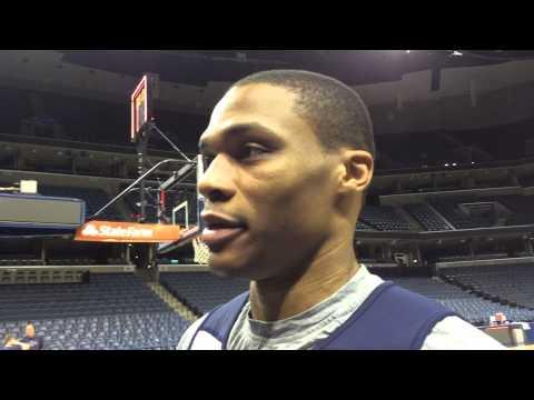 Westbrook: Shootaround in Memphis