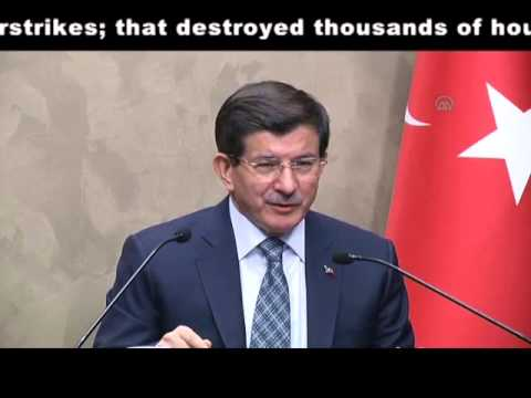 Turkish PM Davutoglu responds Israeli PM Netanyahu's remarks